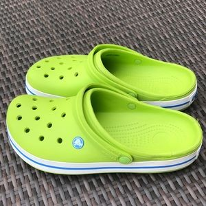 CROCS Clogs Sandals Lime Green Mens 10 Womens 12